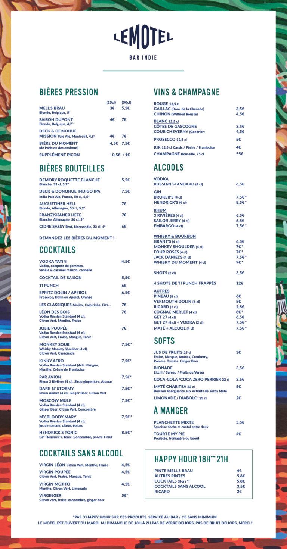 Poster-menu-leMotel